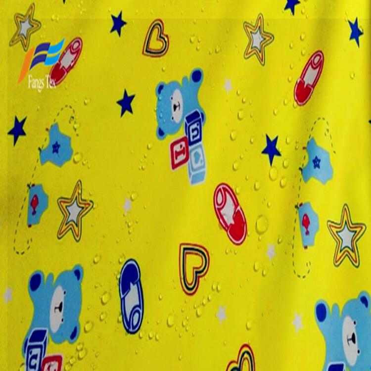 Polyester 190T PVC Taffeta Printed Waterroof Children Fabric 7