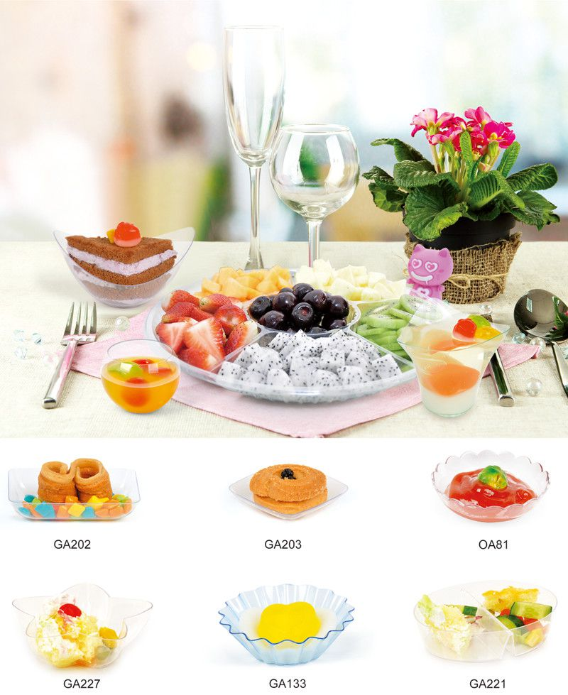 PS/PP Disposable Dish Plastic Saucer Dinner Ware