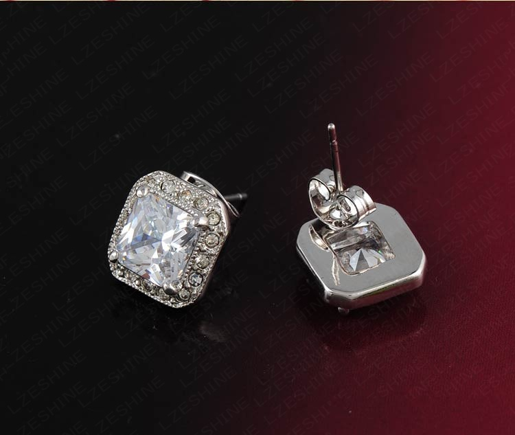 2colors Classical Square Stud Earring for Women (ER0192)