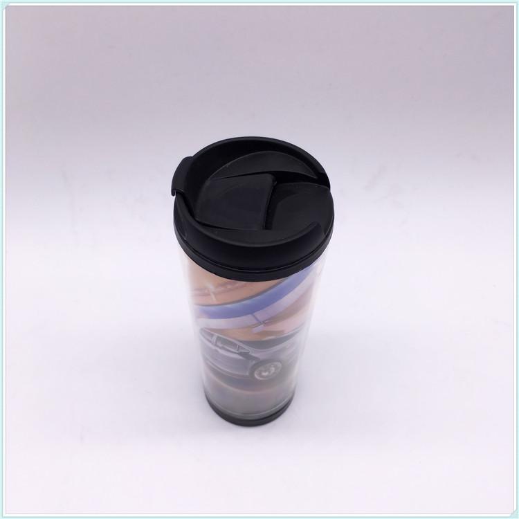 Promotional Photo Insert Mug Double Wall Plastic Mug, Advertisement Mug (SH-PM16)