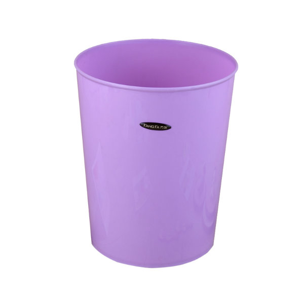 Pure Color Plastic Round Waste Bin (FF-5229)