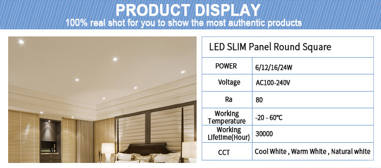 Ce RoHS Certification All in One New Square Recessed Lamp 18W Integrated LED Surface Panel Light for Indoor