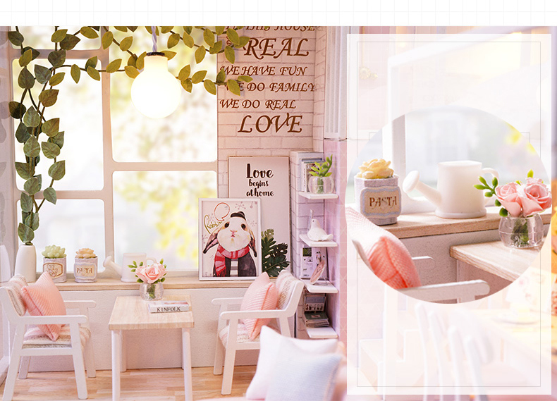Cuteroom DIY Doll House Gift Miniature Children Toy L-022