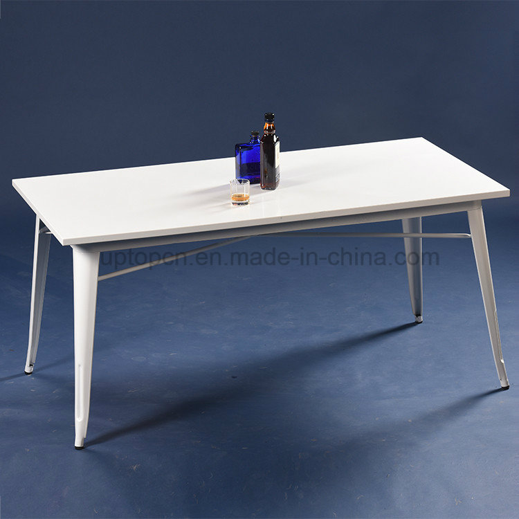 Industrial Cafe White Lacquer Tolix Table and Chair Set (SP-CT673)