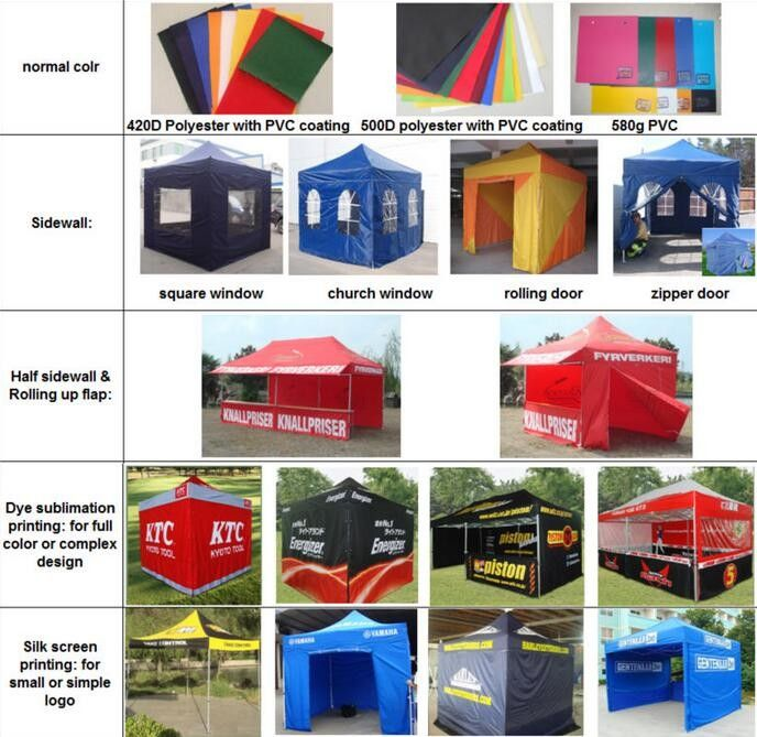 Red 10x10ft Easy Folding garden Pop Up Gazebo Tent Dye Sublimation Printing