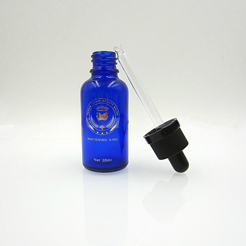 Glass Dropper with Plastic Cap and Rubber Cap (ND02)