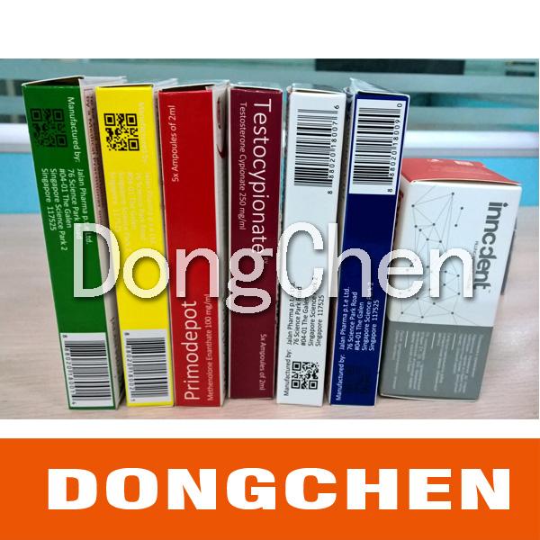 Good Quality Glossy Art Paper Custom Printing Pharmaceutical Vial Box