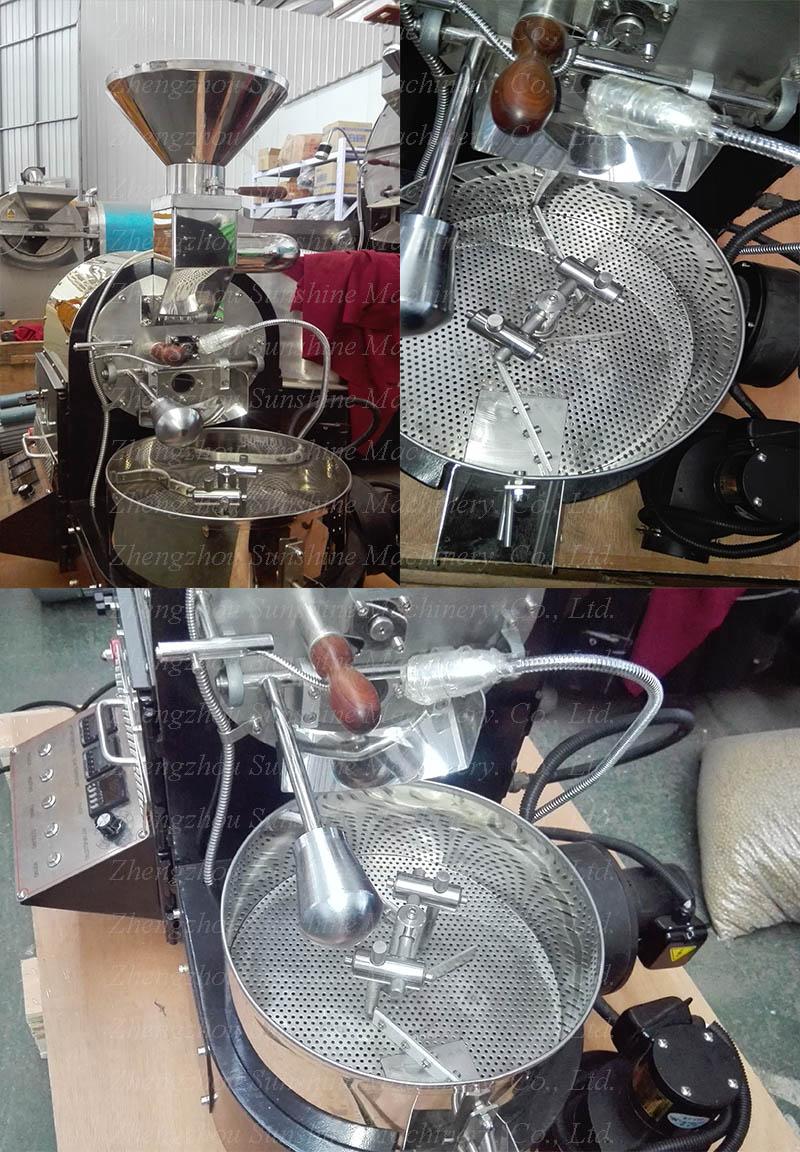 Hot Sale 1kg Gas Small Coffee Roaster Machine Coffee Roaster