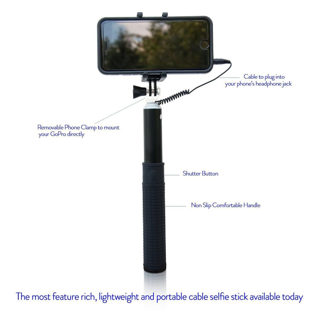 Premium Quality Aluminium Cable Selfie Stick for All Iphones