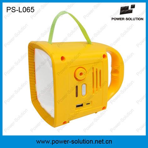 Africa Sun Powered Solar Lantern with High Lumen Music Lamp with FM Radio