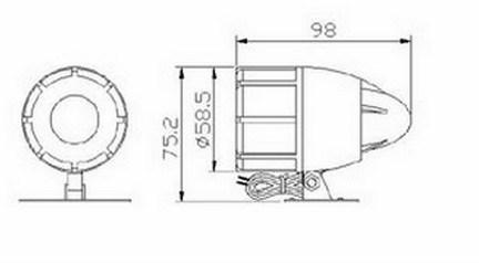 Dual Tone Car Horn Electric Car Horn Alarm Siren (FBELE)