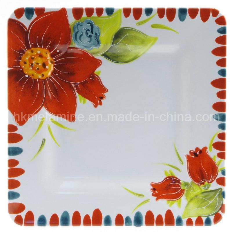 Square Melamine Dinner Plate (PT3489)