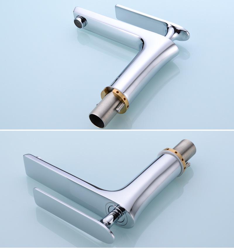 New Design Bathroom Brass Basin Taps in Chrome Finish