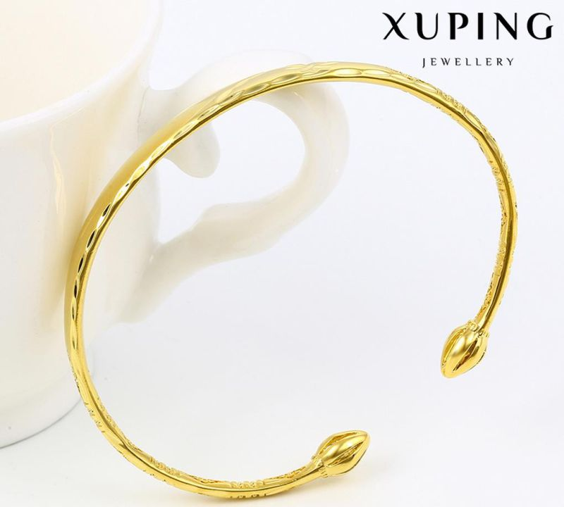 51553 Fashion Simple 24k Gold-Plated Jewelry Bangle in Metal Alloy
