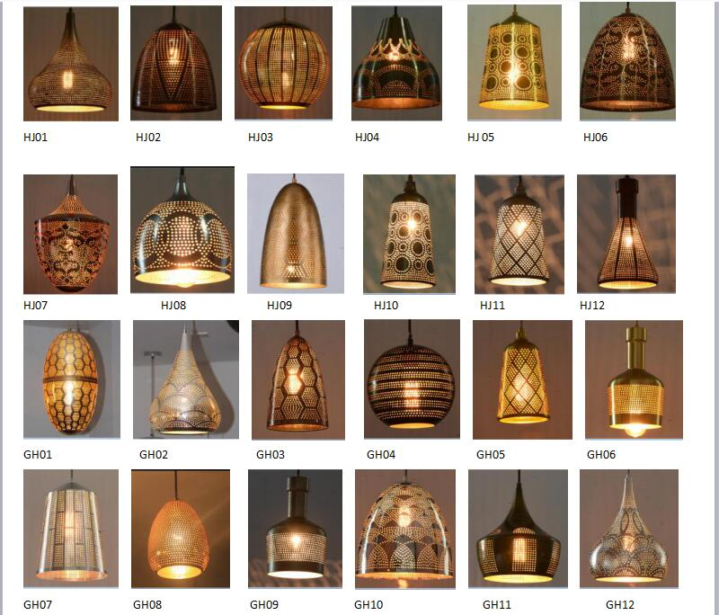 Chinese Style Originality Hollow Round Pendant Lighting with Bar