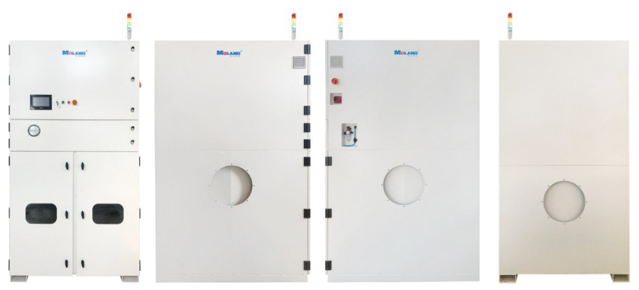 Colector de polvo industrial de filtros de cartucho para soldadura / nivelación / corte por plasma