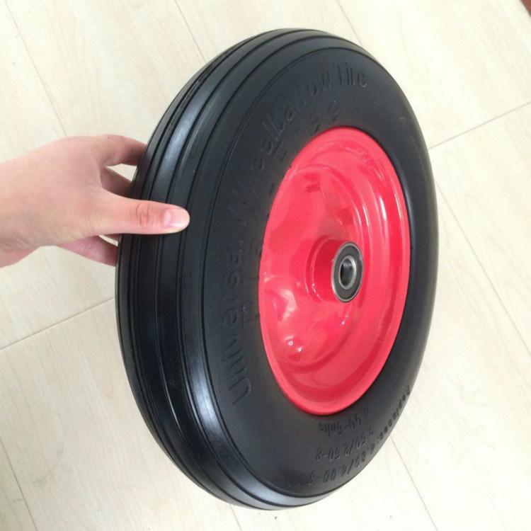 16inch Wheelbarrow PU Wheel Solid Tire