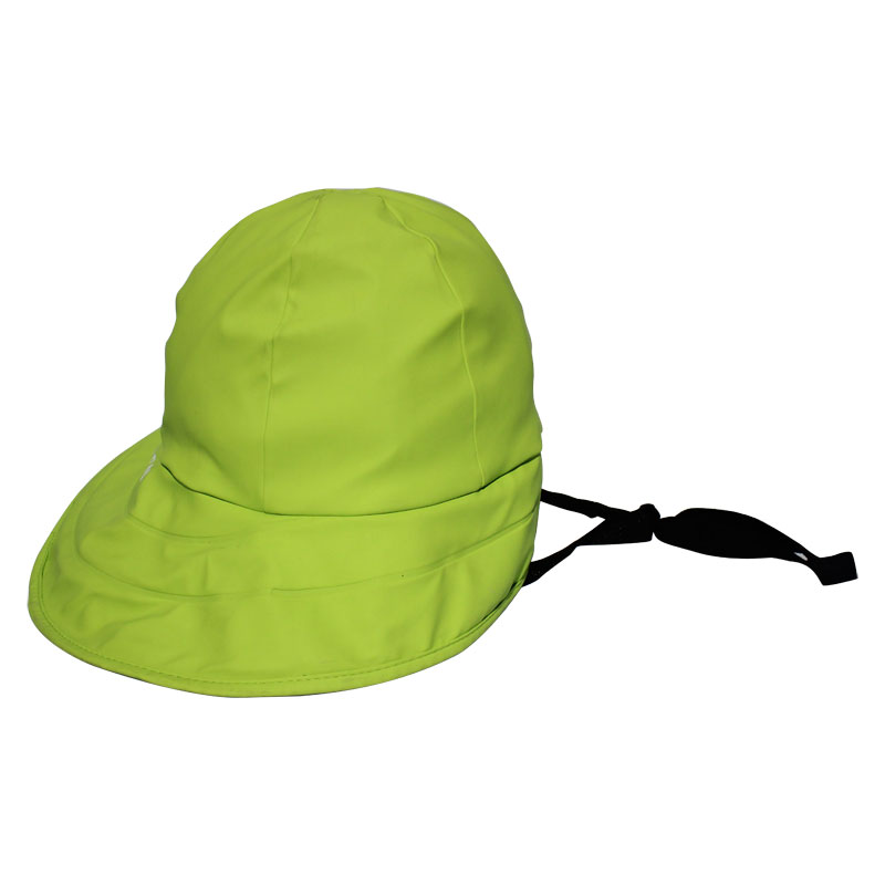 Yellowish-Green PU Rain Hat /Rain Cap/Raincoat for Adult