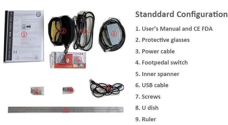 Mini Portable Fiber Laser Marking Machine for Serial Number Logo