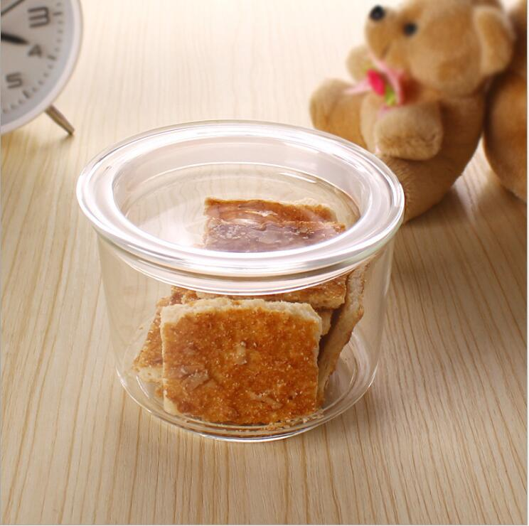 Manufacture Glass Jar Storage with Lid for Food