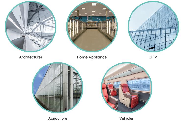 Landglass Refrigerator Heat Reflective Vacuum Stained Glass