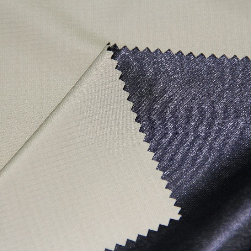 Polyester Jacquard Pongee Compound with Knit Fabric for Men's Jackets