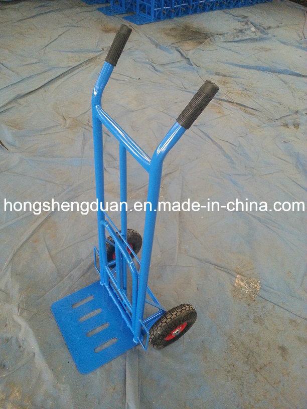 Hand Trolley Have Red Iron Material Made in China