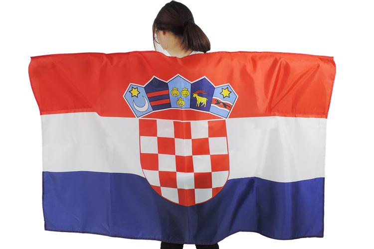 New Design 100% Polyester Printed Croatia Cape Flag