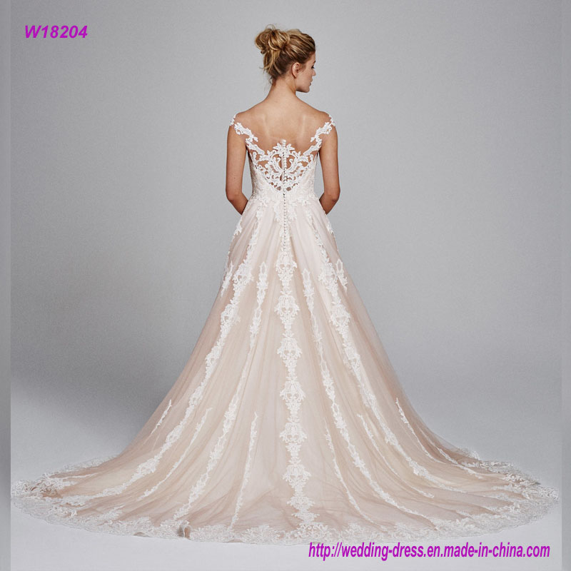 Sexy Backless off Shoulder Wedding Dress