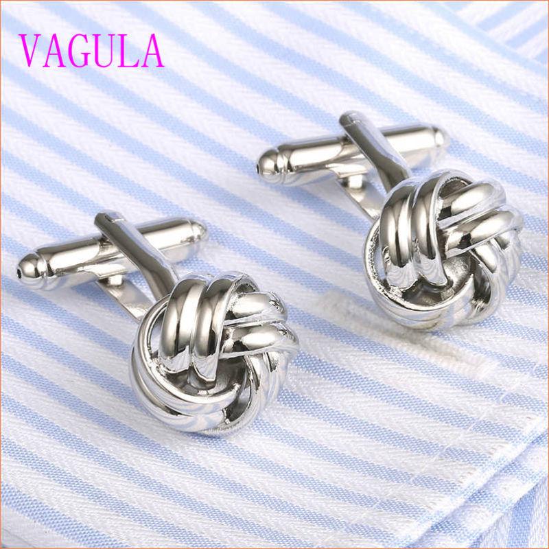 VAGULA Gemelos Men French Shirt Knot Brass Cuff Links 352