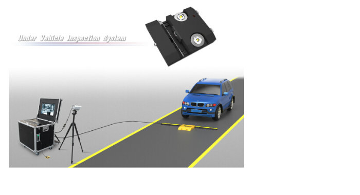 2048 Resolution IP68 Under Vehicle Inspection System for Anti-Terrorism Situation