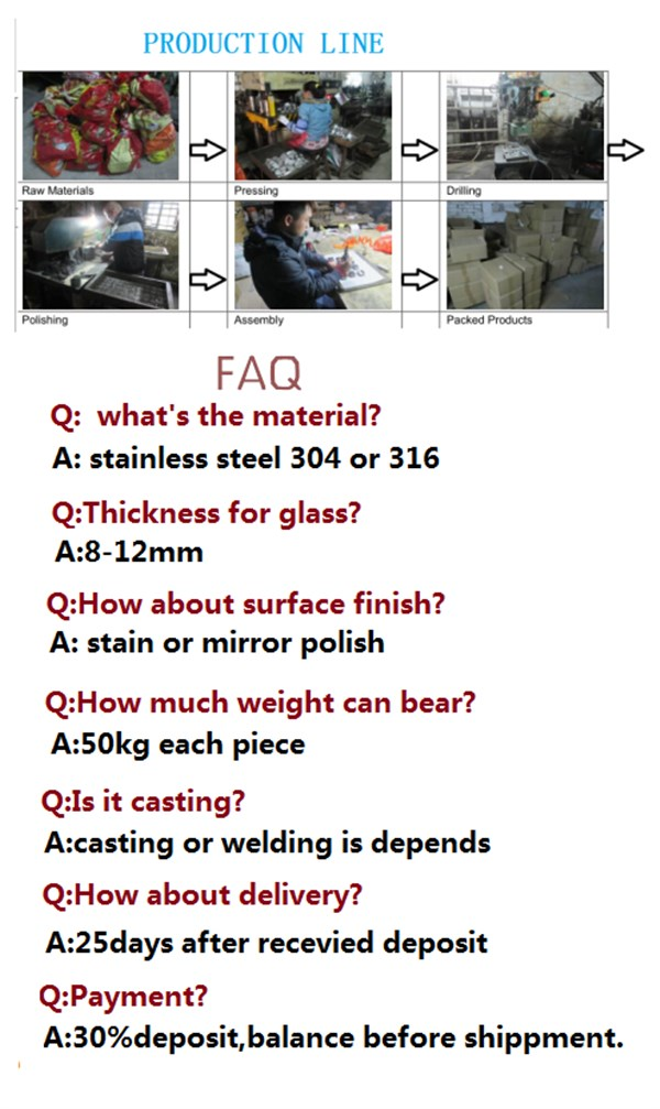 Stainless Steel Standoff for Glass Railing System