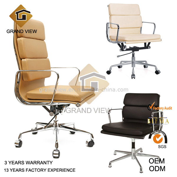 Classical Eames Aluminium Leather Swivel Manager Office Chair (GV-EA219)