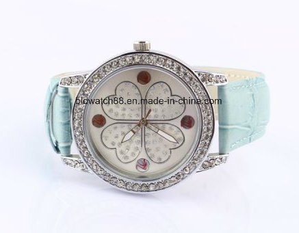 Ladies Leather Wrap Around Bracelet Watch
