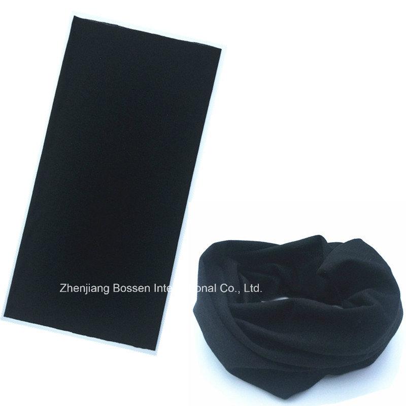 OEM Produce Customized Logo Printed Blue Microfiber Multifunctional Magic Sprots Headwear Tubular Buff