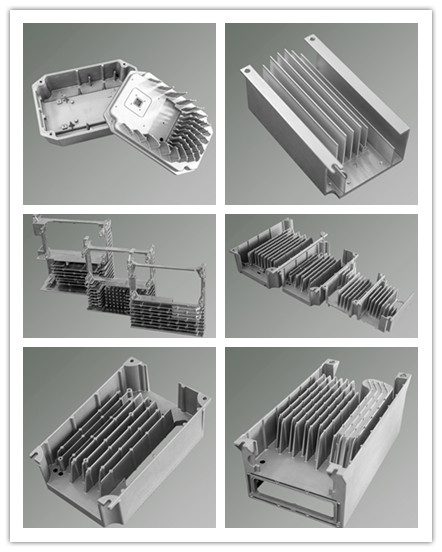 China Casting Supplier Aluminum Heatsink Cover for Integrated Machine