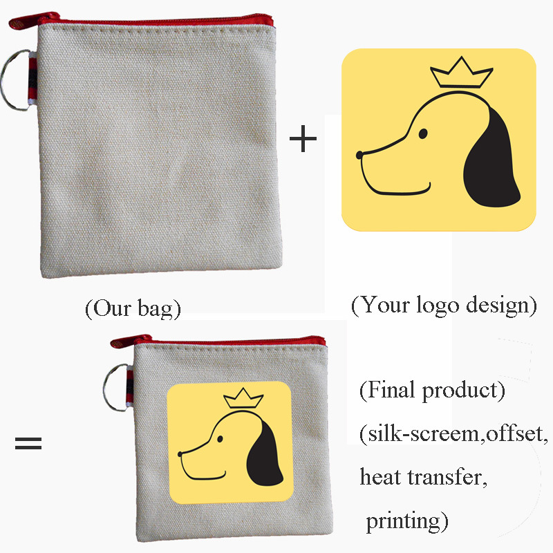 Fashion Promotion Logo Design Portable Canvas Wallet with Hook