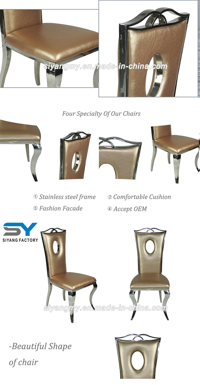 Restaurant Furniture Dining Chair Stainless Steel Wedding Chair