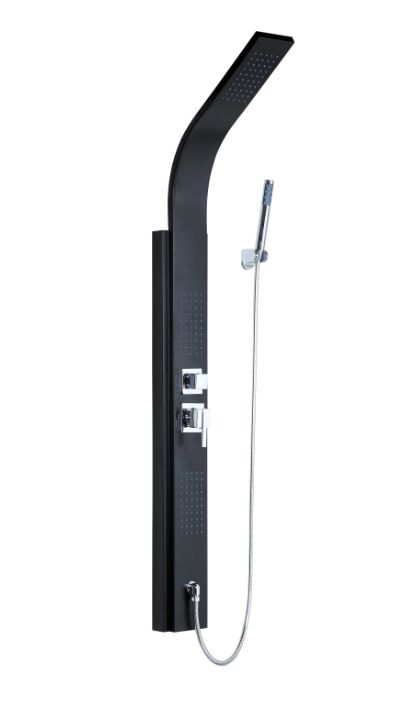 Black Stainless Steel Shower Column (YP-055)