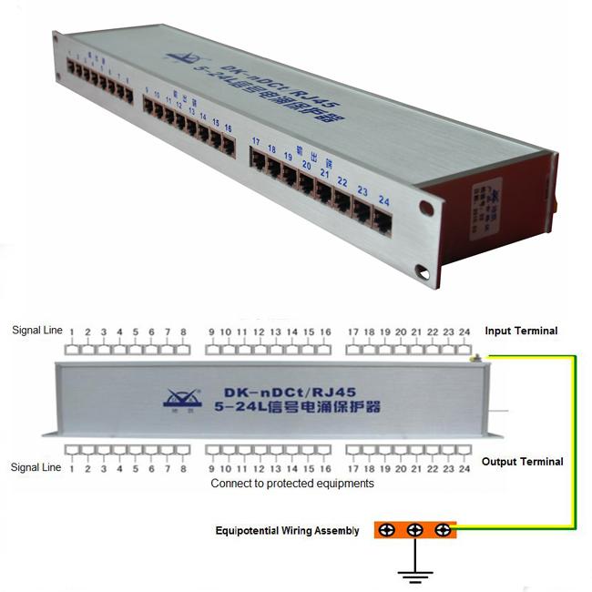 Ethernet Network Signal RJ45 LAN Surge Protection Device