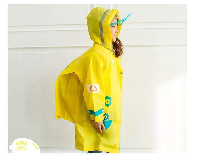 Student Cartoon Raincoat Baby Children Kids Girls Boys Rainproof Rain Coat Waterproof Poncho Rainwear Waterproof Rainsuit 2018
