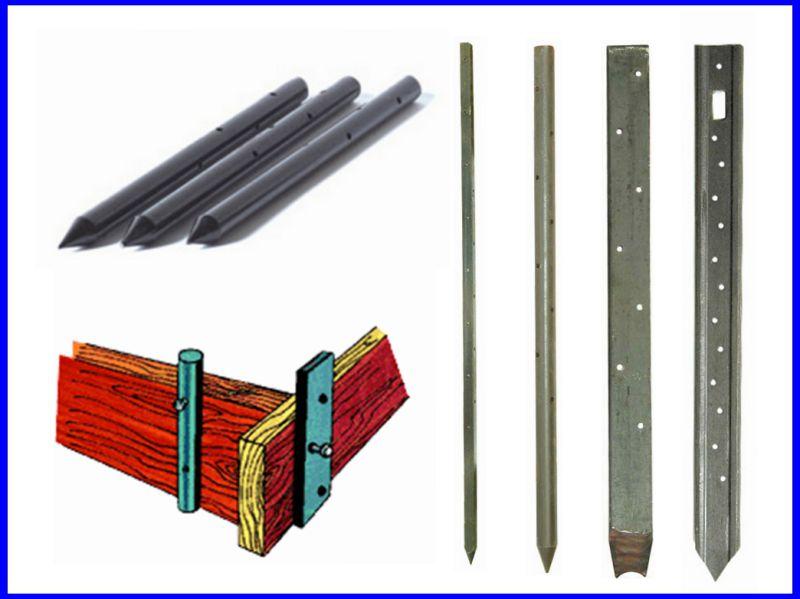 Flat Steel Nail Stake