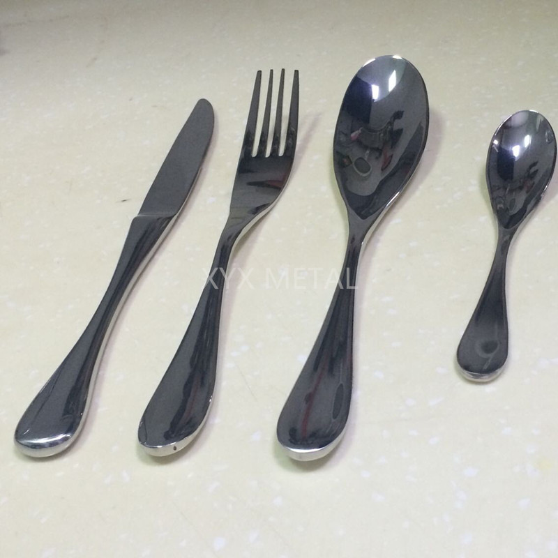 Customized for 5 Star Hotels High Quality Stainless Steel Knives Forks Spoons Tableware Set