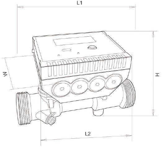 Multi-Jet Ultrasonic Heat Measure Meter