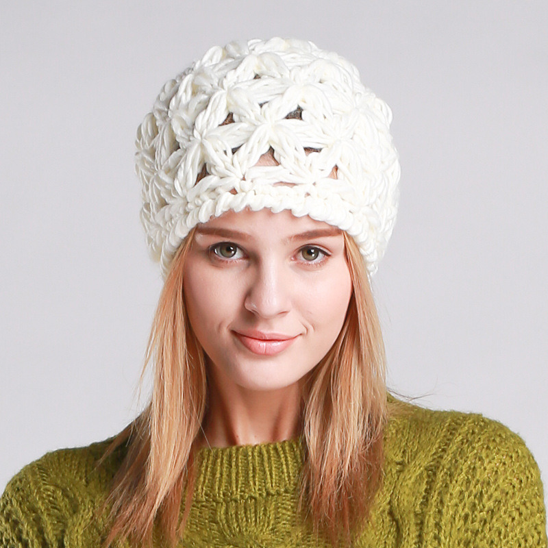 Womens Hand Made Winter Warm Knitted Twisted Cable POM POM Caps Hat Braided Beanie (HW135)