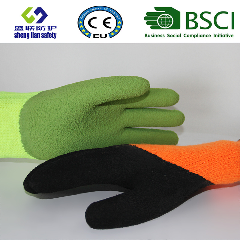 Warmth Glove Foam Latex 3/4 Coated Safety Gloves