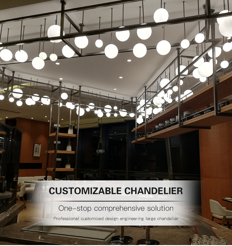 crystal bubbles ball chandelier