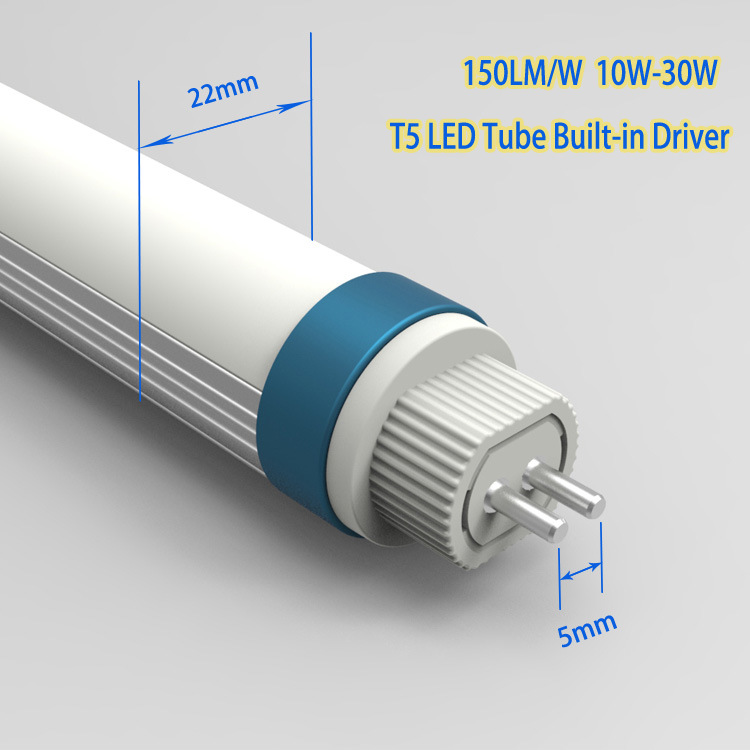 T5 Internal Driver, 160lm/W Frosted Cover LED Tube Light