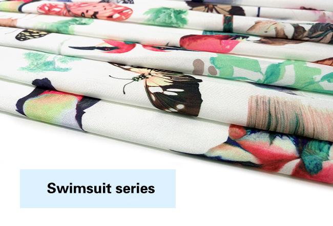 Polyester Spandex Animal Printed Swimwear Fabric