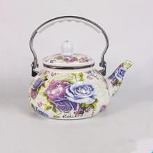 0.2-2.5L Flower Painted Tableware Drinkware Enamel Teapot Kettle/Coffee Pot